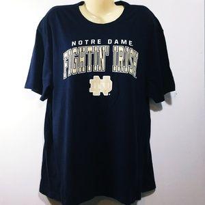 Mens XL Notre Dame Tshirt Navy Blue Nice!